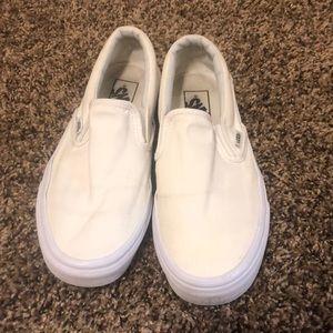 White Slip-On Vans